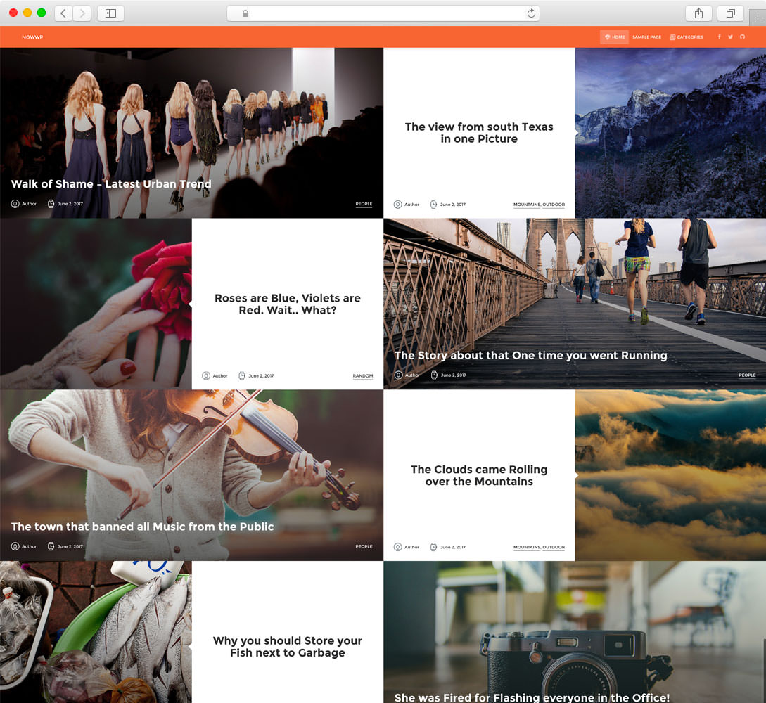 NowWP - WordPress Theme