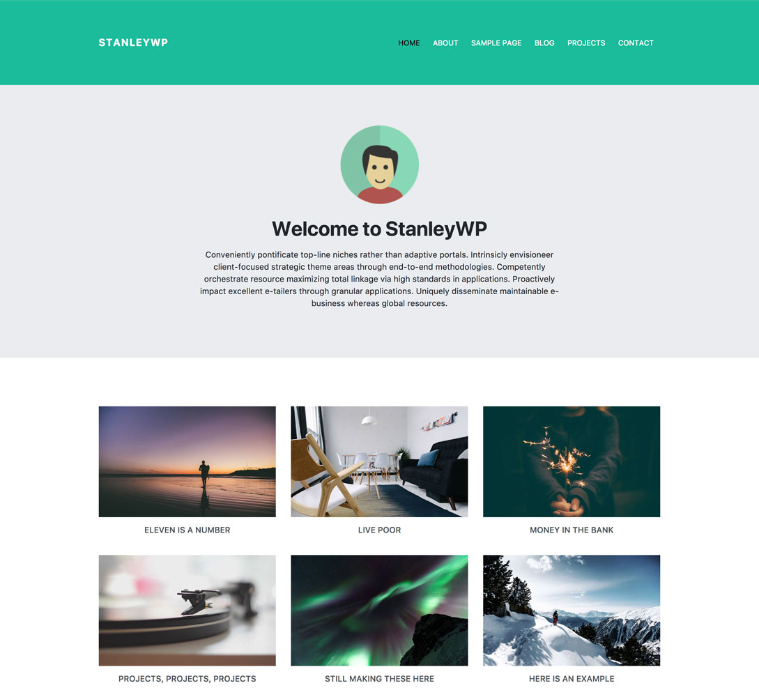 StanleyWP - Bootstrap 4 WordPress Theme
